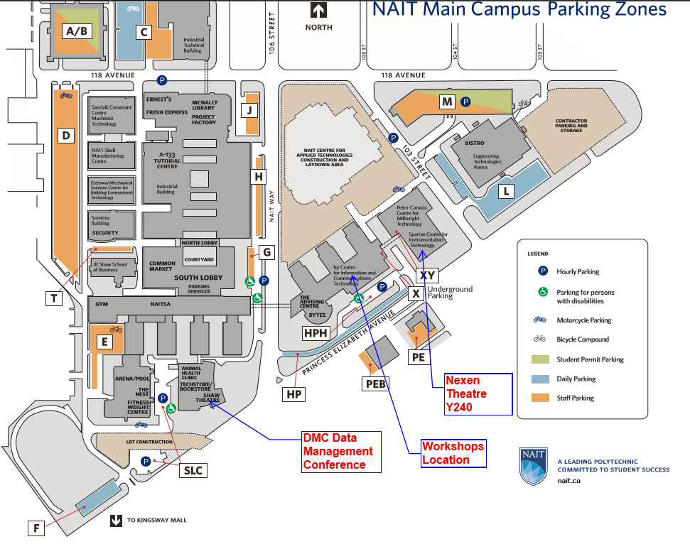 Nait Campus Map Events: New & Past   DATA MANAGEMENT